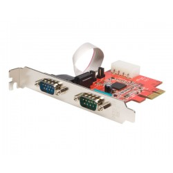 StarTech.com - Tarjeta Adaptadora PCI Express PCIe de 2 Puertos Serie RS232 UART 16950 Serial