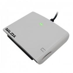 Nilox - 10NXCR12SM003 Interior USB 2.0 Blanco lector de tarjeta inteligente
