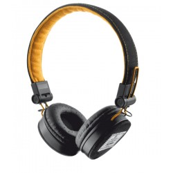 Trust - URB FYBER BLACK/ORANGE auricular