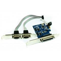 Approx - APPPCIE1P2S tarjeta y adaptador de interfaz Paralelo, De serie Interno