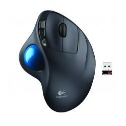 Logitech - M570 ratón RF inalámbrico Laser mano derecha Negro