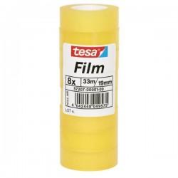 TESA - 57207-00001-00 cinta adhesiva 33 m Transparente 8 pieza(s)