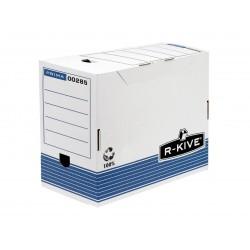Fellowes - 0028501 Azul, Color blanco caja y organizador para almacenaje de archivos