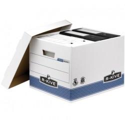 Fellowes - 0026101 Azul, Color blanco caja y organizador para almacenaje de archivos