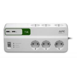APC - PM6U-GR limitador de tensión 6 salidas AC 230 V 2 m Blanco