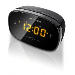 Muse - M-150 CR Reloj Digital Negro radio