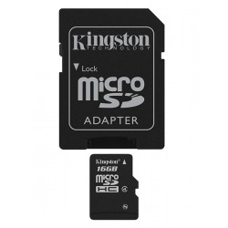 Kingston Technology - 16Gb microSDHC 16GB MicroSDHC Flash Clase 4 memoria flash