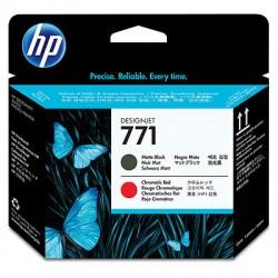 HP - Cabezal de impresión DesignJet 771 negro mate/rojo cromático