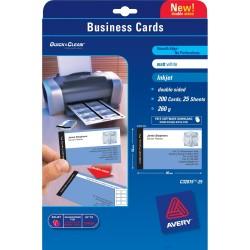 Avery - Quick&Clean 85 x 54 mm (x25) 200pieza(s) tarjeta de visita