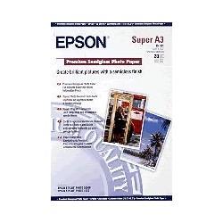 Epson - Premium Semigloss Photo Paper, DIN A3+, 250 g/m², 20 hojas