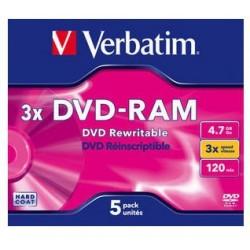 Verbatim - DVD-RAM 3x 4.7GB DVD-RAM 5pieza(s)