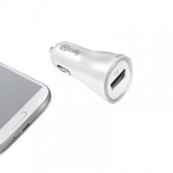 Celly - CCUSBW Auto Blanco cargador de dispositivo móvil