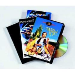 Fellowes - 83357 DVD case 1discos Negro funda para discos ópticos