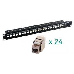 MCL - PB-UNI6A/24BN panel de parcheo 1U