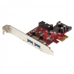 StarTech.com - Adaptador tarjeta PCI Express de 2 puertos externos 2 internos USB 3.0 con alimentación SATA