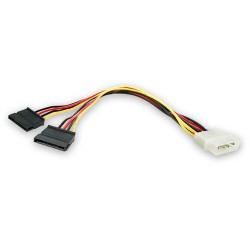 StarTech.com - Adaptador Cable Divisor Molex 4 Pines a SATA - 2x Hembra SATA y 1x Macho LP4
