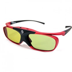 Optoma - ZD302 Negro, Rojo 1pieza(s) gafas 3D estereóscopico