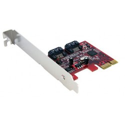 StarTech.com - Tarjeta Adaptadora Controladora PCI Express PCIe 2 Puertos SATA Internos - SATA III
