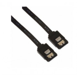 Nanocable - CABLE SATA III DATOS 6G CON ANCLAJES, NEGRO, 0.5 M