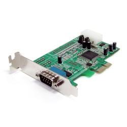 StarTech.com - Tarjeta Adaptadora PCI Express PCIe Perfil Bajo de un Puerto Serie RS232 DB9 UART 16550