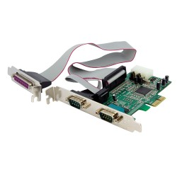 StarTech.com - Tarjeta Adaptadora PCI Express de 2 Puertos Serie y 1 Paralelo RS232 UART 16550 Serial