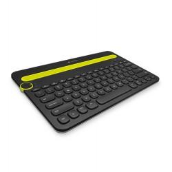 Logitech - K480 Bluetooth QWERTY Español Negro, Verde teclado para móvil
