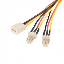 StarTech.com - Cable de 30cm multiplicador divisor de alimentación TX3 para Ventiladores