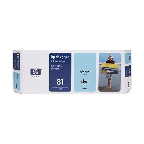 HP - Cartucho de tinta colorante DesignJet 81 cian claro de 680 ml ...