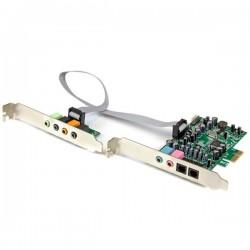 StarTech.com - Tarjeta de sonido PCI Express con sonido envolvente de 7.1 canales 24bit 192 kHz