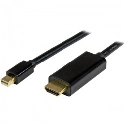StarTech.com - Cable Conversor Mini DisplayPort a HDMI de 2m - Color Negro - Ultra HD 4K