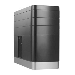 Phoenix Technologies - 2503 Oem Mini-Tower Negro, Plata carcasa de ordenador