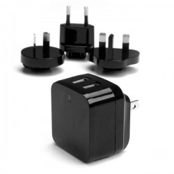 StarTech.com - Cargador de Pared USB de 2 Puertos para Tablets Smartphones - Cargador de Alta Potencia para Viajes
