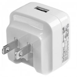 StarTech.com - Cargador de Pared USB con función de carga rápida Quick Charge 2.0 - Cargador blanco para viajes