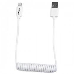 StarTech.com - Cable de 60cm USB a Lightning Rizado para Apple iPhone / iPod / iPad cable de teléfono móvil