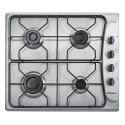 Candy - PL 40 ASX Encimera de gas Negro, Color blanco hobs