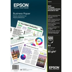 Epson - Business Paper 80gsm 500 shts A4 (210×297 mm) Blanco papel para impresora de inyección de tinta