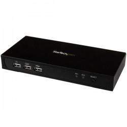 StarTech.com - Conmutador Switch KVM 2 puertos Mini DisplayPort DP USB 2.0 4K
