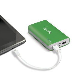 Celly - Li-Ion 6000mAh Ión de litio 6000mAh Verde batería externa