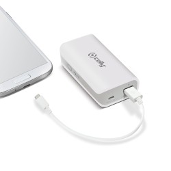 Celly - Li-Ion 4000mAh Ión de litio 4000mAh Color blanco batería externa