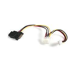 StarTech.com - Adaptador de Cable de Alimentación LP4 a SATA con Alimentación Floppy