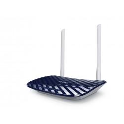 TP-LINK - AC750 router inalámbrico Doble banda (2,4 GHz / 5 GHz) Ethernet rápido Negro, Blanco