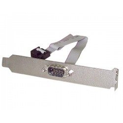 StarTech.com - Adaptador de 40cm de Header Bracket Serie DB9 RS232 a IDC 10 Pines para Placa Base - Cabezal Serial