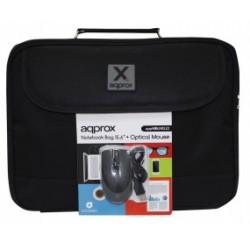 "Approx - APPNBBUNDLE2 maletines para portátil 39,6 cm (15.6"") Maletín Negro"