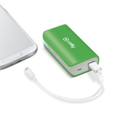 Celly - Li-Ion 4000mAh Ión de litio 4000mAh Verde batería externa