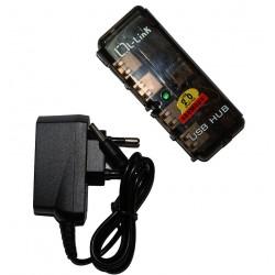L-Link - LL-UH-404L 480Mbit/s Negro nodo concentrador
