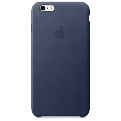 Apple - Funda Leather Case para el iPhone 6s Plus - Azul noche