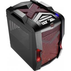 Aerocool - Strike-X Cube Cubo Negro, Rojo
