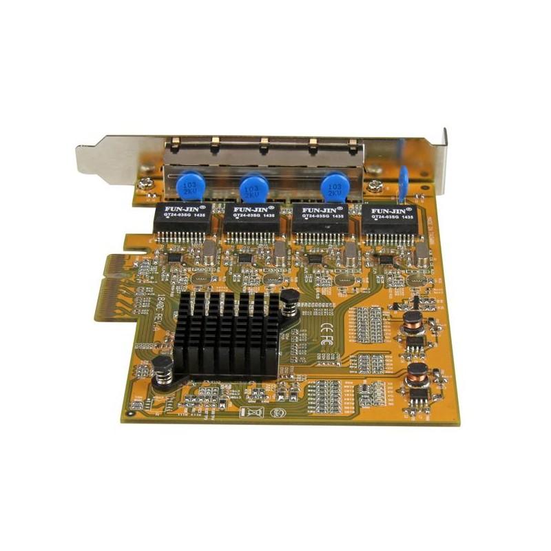 StarTech.Com ST1000SPEX43 Tarjeta Adaptador de Red PCI Express PCI-E Ethernet Gigabit con 4 Puertos RJ45 de 1Gbps