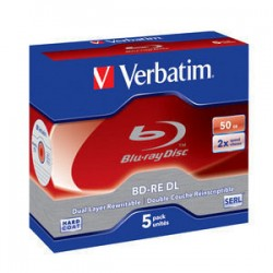 Verbatim - BD-RE DL 50GB 2 x 5 Pack Jewel Case 5 pieza(s)