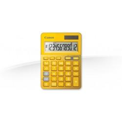 Canon - LS-123K calculadora Escritorio Calculadora básica Metálico, Amarillo